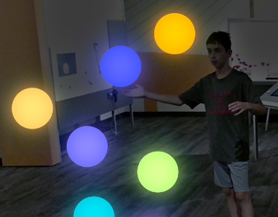 Particle Mirror balls