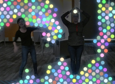 Particle Mirror sticky balls
